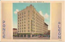 Hotel Ponce de Leon in Roanoke VA Postcard