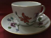 Royal Worcester Astley Gold Edged Tea Cup & Saucer With Floral Design - ExCdtion