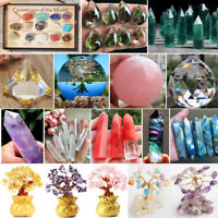 Natural Fluorite Stone Quartz Crystal Point Wand Rock Healing Gemstone Ball Lot