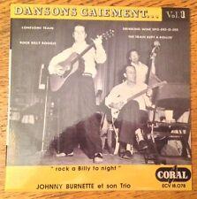 RARE FRENCH REPRO EP JOHNNY BURNETTE TRIO DANSONS GAIEMENT