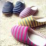 Women Men Strip Flats Slipper Shoes Mute Floor Anti-Slip Home Indoor Soft Hot