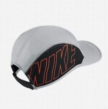 NIKE UNISEX AEROBILL AW84 RUNNING CAP GREY/BLACK ONE-SIZE FITS ALL (848377 043)