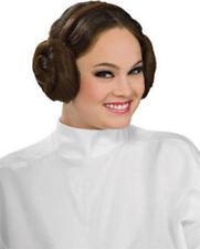 Leia Wig Headband Hair Buns Star Wars Ladies Fancy Dress Adult Costume Accessory