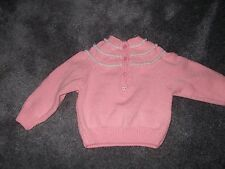 Hand knitted pink sweater 28in chest NEW