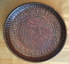 Vintage Islamic Copper Tray 19th Century Decorative Tray With Hanger