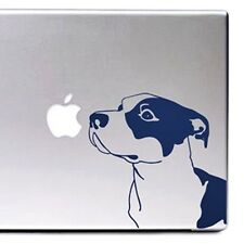 Pit Bull Large Blue Nose & Clear Vinyl Decal by artist Ivy Bee-Free Shipping