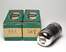 2x SYLVANIA 7a8 loktal-tubo/RADIO TUBE, NOS