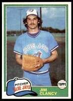 1981 Topps Baseball Set Break Jim Clancy Toronto Blue Jays #19