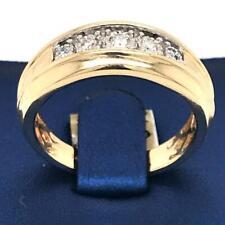 0.20 TCW Illusion Setting Diamonds Men's Wedding Ring Band 14k Gold Size 10.25