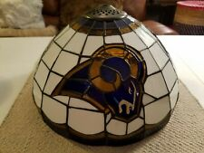 Beautiful Tiffany Style Stained Glass Lamp Shade Football Team Rams