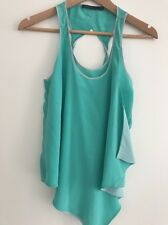 Karen Millen Turquoise Silky Top Size 8 New Without Tags