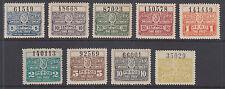 Argentina, Santa Fé, 1921 Control de Impuestos Fiscal halves, F-VF