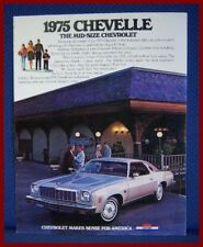 1975 Chevrolet CHEVELLE Sales Catalog Brochure - FREE SHIPPING!