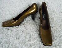 Stuart Weitzman Greenish Patent Leather Heels Women's Size 9 AA