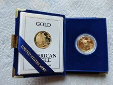 ONE-HALF OUNCE $25 GOLD EAGLE COIN PROOF 1991 P with Original Box/Papers