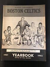 1961-62 NBA Champion Boston Celtics Yearbook HOF's Cousy/Russell/Auerbach/Jones