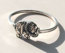 Sterling Silver Elephant Animal Safari Ring Cute Stackable Women's Solid 925.