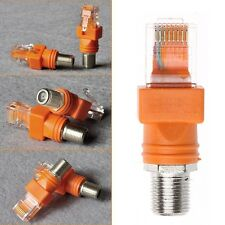 1PC F Female To RJ45 Male Coaxial Barrel Coupler Adapter RJ45 To RF Converter