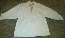 Beautiful Vintage Continental Leather Fashions Ivory Jacket ~ So SOFT ~ 2XL
