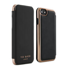 Official Ted Baker Shannon Womens Mirror Case Fits iPhone 7 & 6s Black/rose Gold