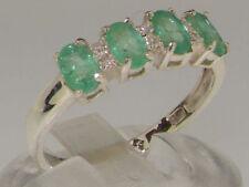 Emerald Engagement Eternity Fine Rings