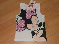 """Disney """"Minnie Maus"""" super süsses Top Größe 92 weiß 100% Baumwolle"""