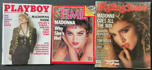 Lot Of 3 Madonna Mags/Time Magazine 1985 /Playboy:1985/ Rolling Stone 1984
