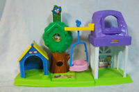 """2009 Fisher Price Little People Playset 16"""" Toy Doghouse Swing"""