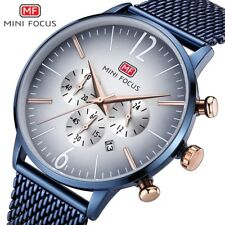 Mini Focus Blue Chronograph Business Fashion Smart Casual Men Wristwatch