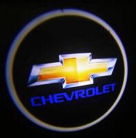 2x Chevrolet Emblem LED Courtesy Shadow Ghost Laser Projector Lights