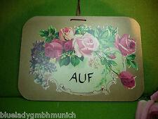 Türschild ✿ AUF / ZU ✿ Rosen Landhaus Holz
