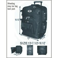 Motorcycle Sissy Bar Bag / Back Pack and Wheelbag for Easy Travel