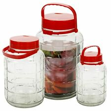 Extra Large Glass Preserve Food Beverage Juice Airtight Container Jar 5L 8L 10L