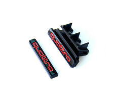 2x OEM Grille Quattro Emblems + Badges 3D Decal For AUDI A4-8 Q3-5 TT Red y3
