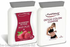 30 RASPBERRY KETONES Maxi & 30 DETOX COLON CLEANSE WEIGHTLOSS SLIM DIET PILLS