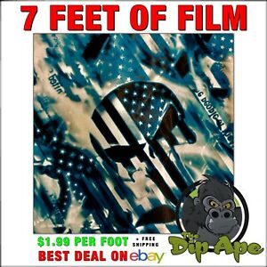 Hydrographic film We the people Flag skulls hydro dip dipping 7'