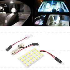 24 SMD 5050 12V White Light Panel T10 Festoon Dome LED Interior Bulb