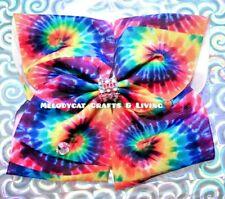 """NEW Jojo Siwa Style 8"""" Bow 💕BellaBow✨ Ombre, Rainbow Rhinestones Jo Jo, Tie Dye"""