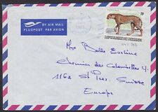 Burundi 1983 WWF stamp CHEETAH Cob 902 used on Airmail cover to Suisse.....A6274