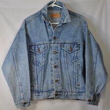 Vintage Levi's Trucker Denim Jean Jacket 70507 4813 EUC Sz L Distressed 80s 90s