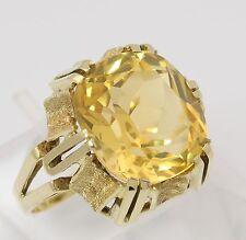 Citrin Ring in aus 14 kt 585 Gelb Gold mit Zitrin Goldring Citrinring Zitrinring