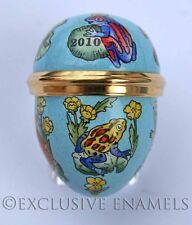 Halcyon Days Enamels 2010 Easter Frogs Mini Enamel Egg