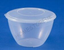 0.6/1.2/2 LITRE PUDDING BOWL PLASTIC WITH LID ROUND BASIN XMAS MICROWAVE STORAGE