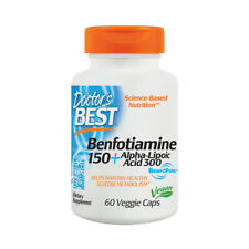 Benfotiamine + 150 Alpha-Liponsäure, 60 Veg Kapseln - Doctors Best