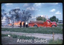 1962 kodachrome  Photo slide  fire department truck Saskatoon Canada