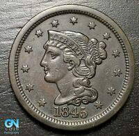 1845 Braided Hair Large Cent --  MAKE US AN OFFER!  #B6220