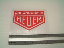 Heuer Chronograph Motorsport Sticker Decal Tool box vintage Classic Car Workshop