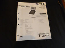 ORIGINALI service manual Sony dd-10ex