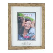 Juliana Natural Wood Effect Plastic Frame with Silver Word - Mum