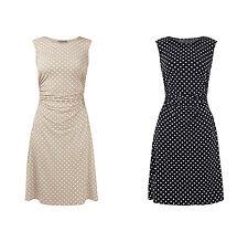 Montego Kleid mit Polka Dots und seitlichen Raffungen Damen Kleid NEU